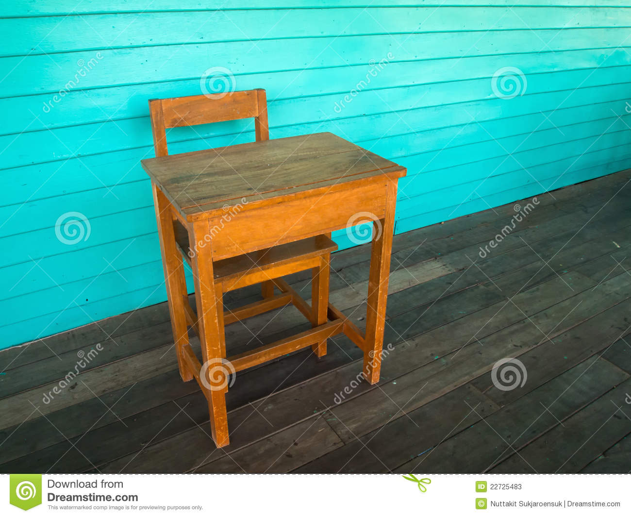desk chair on wood floor hyperextension roman old and stock photos image