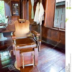 Stool Chair Hong Kong Stacking Rolling Chairs Old Wooden Barber's In Barber Shop Stock Image - Image: 47029569