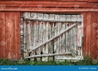 Old wooden barn door. stock photo. Image of wooden, rough ...