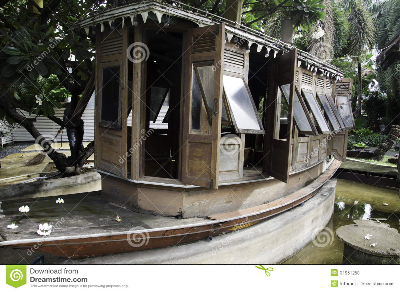 old wooden boats stock