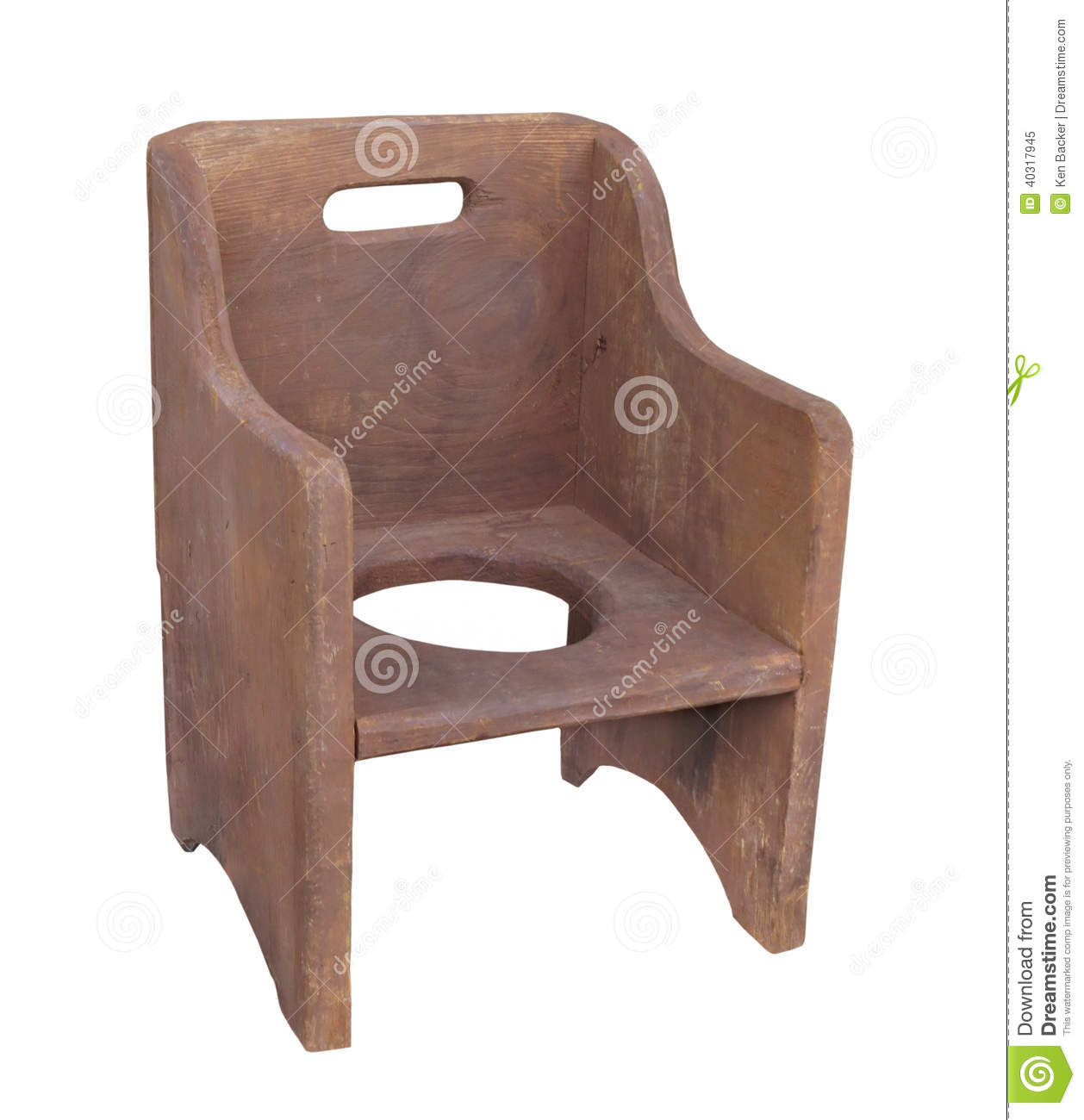 wooden potty training chair zero gravity shiatsu massage old child isolated stock photo image