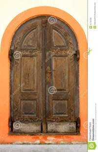 Old Wooden Doors In Andechs Monastery As Background Stock ...