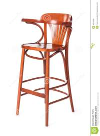 High Back Chair Stock Photo