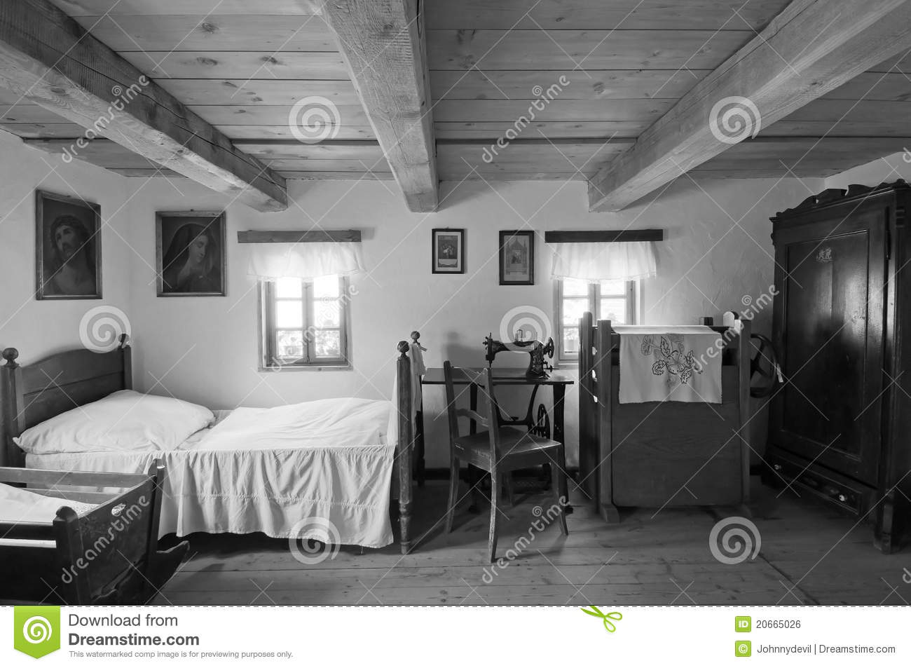 Old Wooden House Interior Editorial Photo  Image 20665026