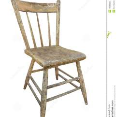 Kitchen Chairs Wood Chair Slipcovers Ikea Old Wooden Isolated Stock Image Of