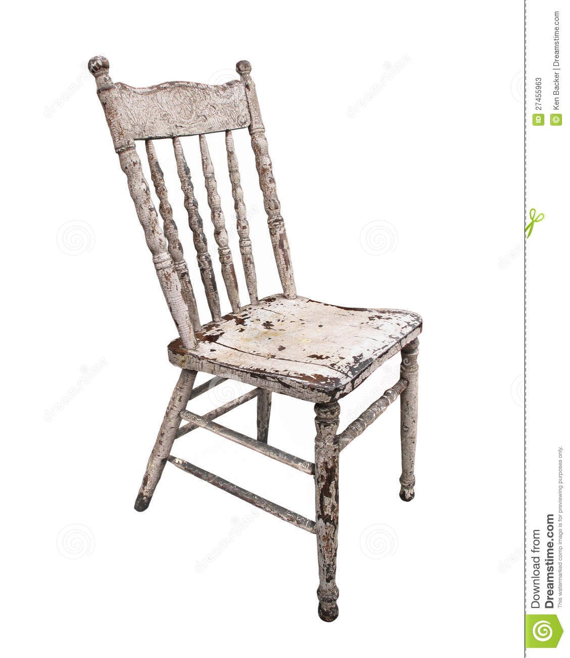 Kitchen Chairs Wood Old Worn Wooden Kitchen Chair Isolated Stock Image Image Of