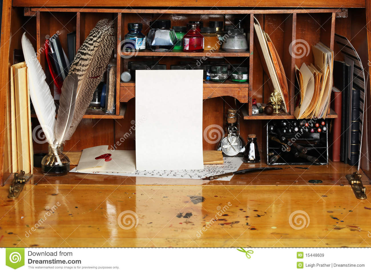 Old Writing Desk Royalty Free Stock Images  Image 15448609