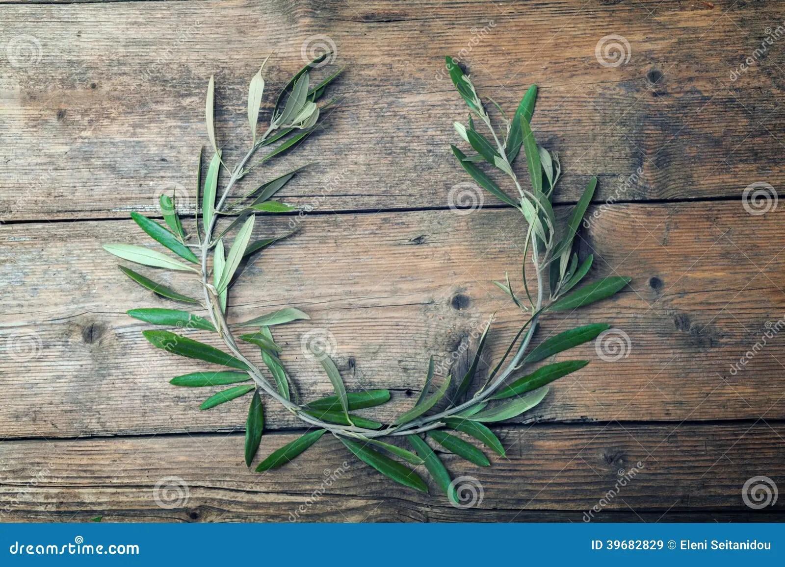 Olive Tree Wreath Stock Photo Image 39682829
