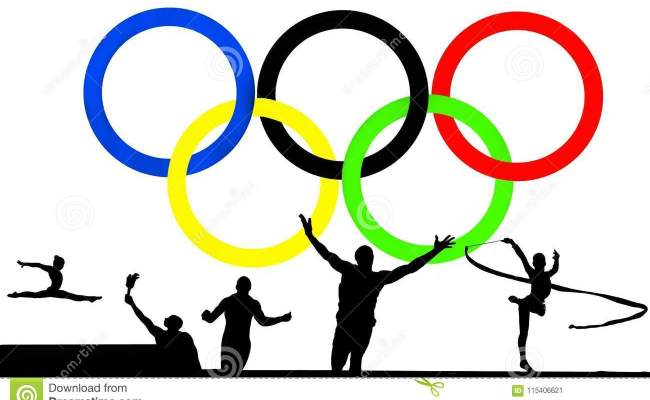 Olympic Logo And Games Editorial Photo Illustration Of