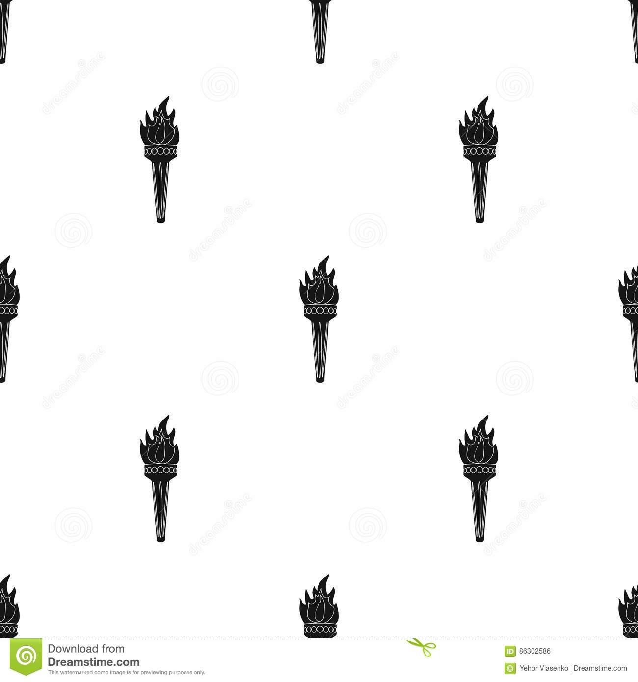 Olympic Torch With Flame Isolated Vector Vector