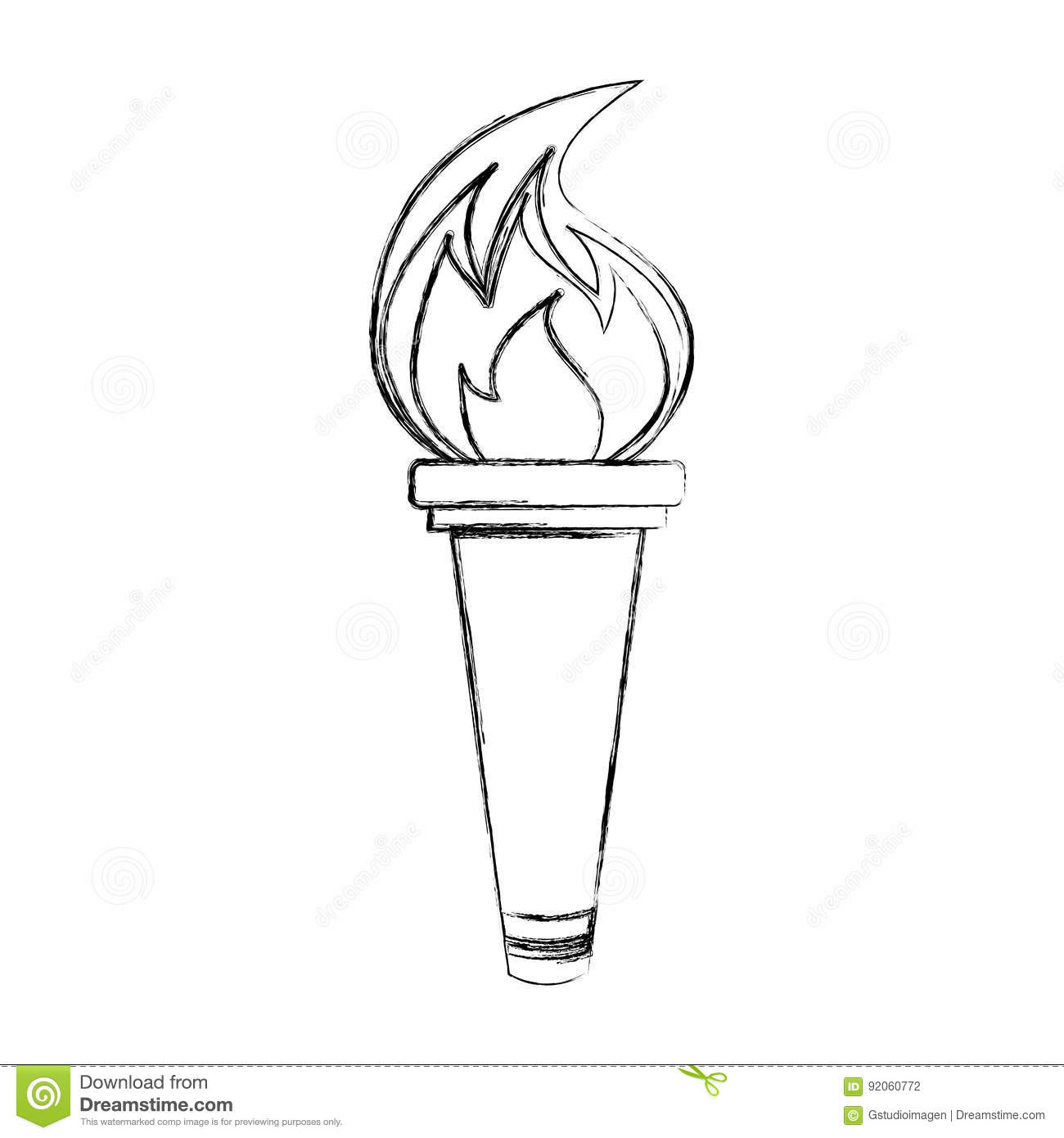 Olympic Torch Isolated Icon Stock Vector