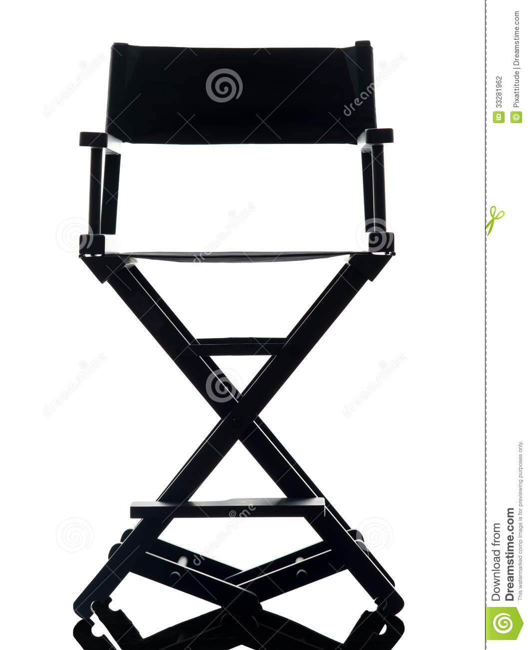directors chair white pink kids one director silhouette stock photo image 33281962