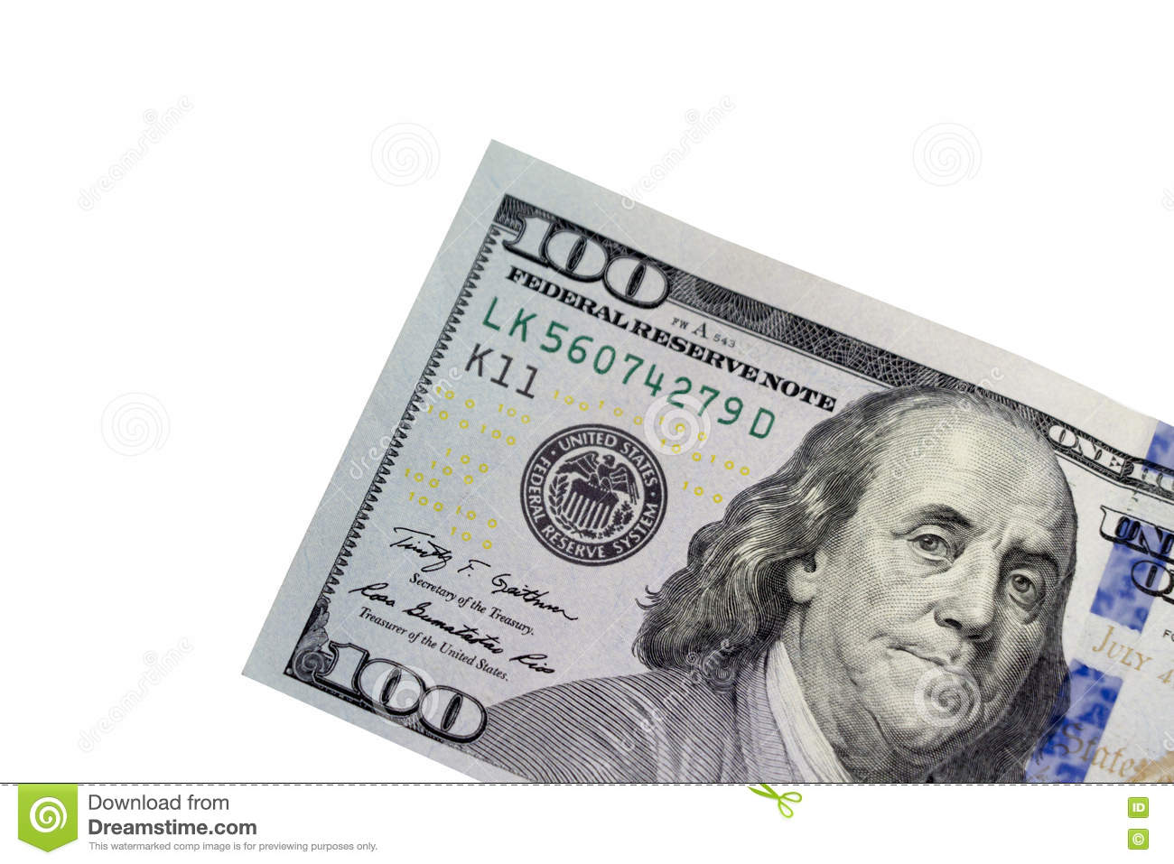 One Hundred Dollar Bill Stock Image Image Of Bank Money