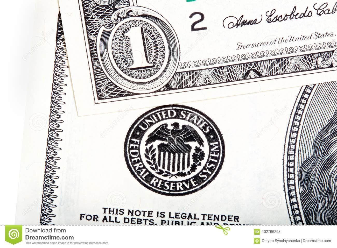 One Us Dollar Fear Print Of Federal Reserve System