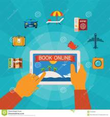 Online Booking Vector Concept Stock - Illustration