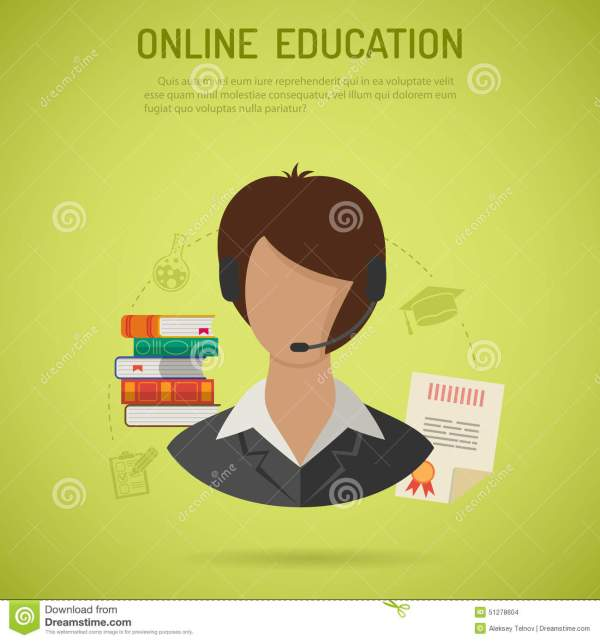 Online Education Concept Stock Vector. Of