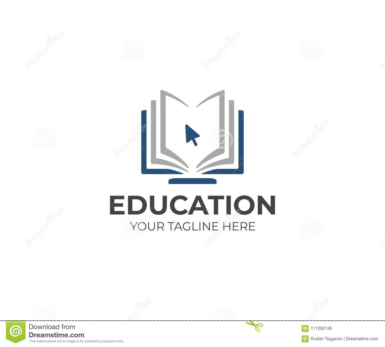Online Education Logo Template. Distance Learning Vector