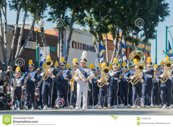 Ontario High School Marching Band Of Famous Temple
