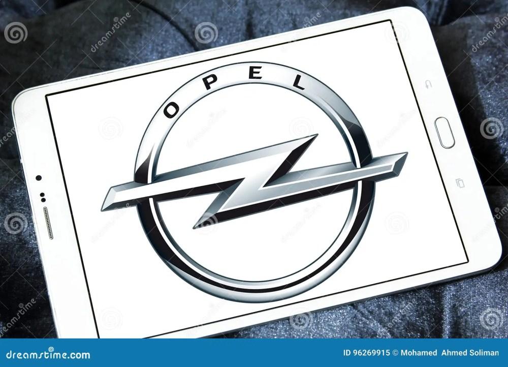 medium resolution of logo of opel car brand on samsung tablet