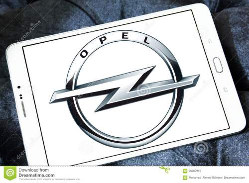 small resolution of logo of opel car brand on samsung tablet