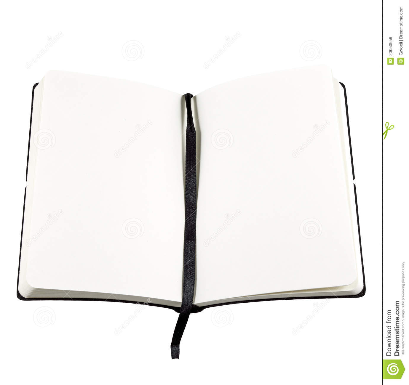 Open Book With Blank Page Royalty Free Stock Image