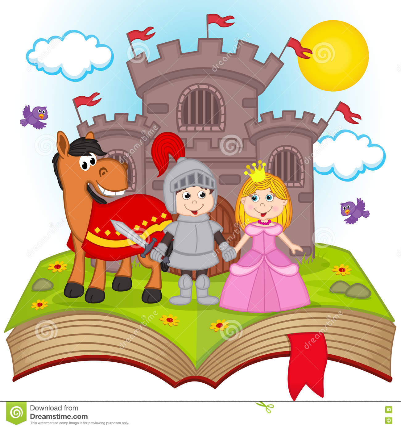 hight resolution of open book with fairy tale