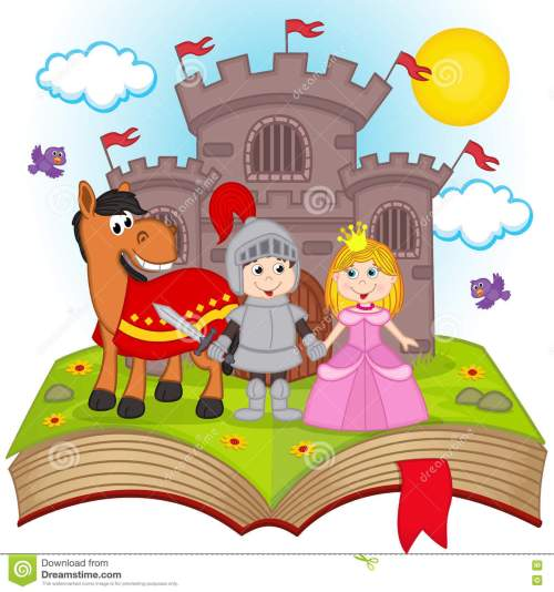 small resolution of open book with fairy tale