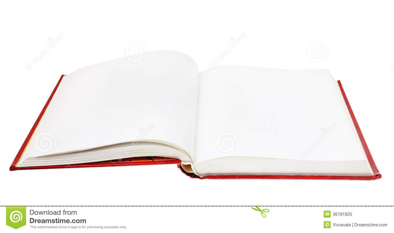 Open Book Isolated On White Background Stock Image  Image of background literature 36181825