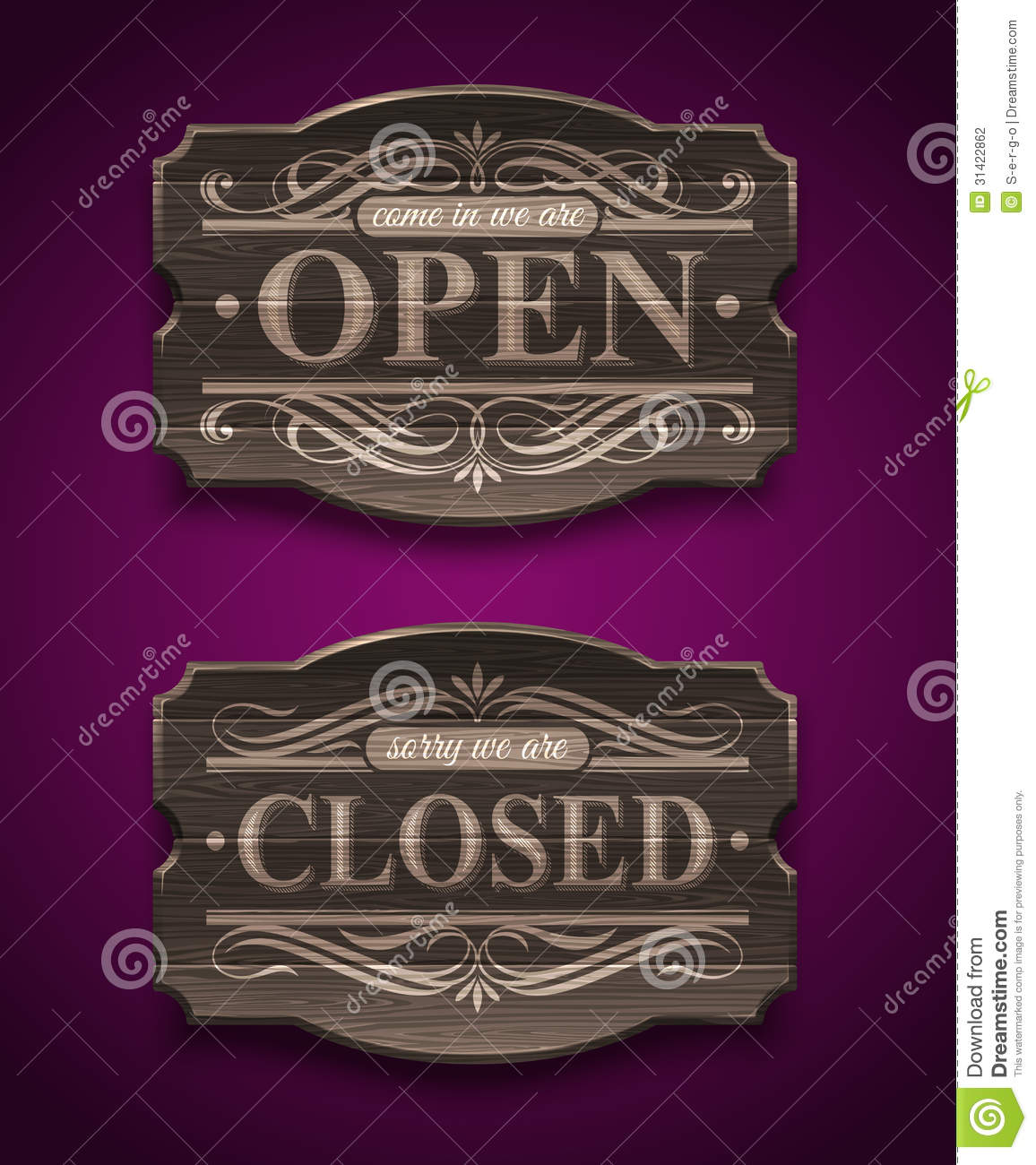 open and closed wooden