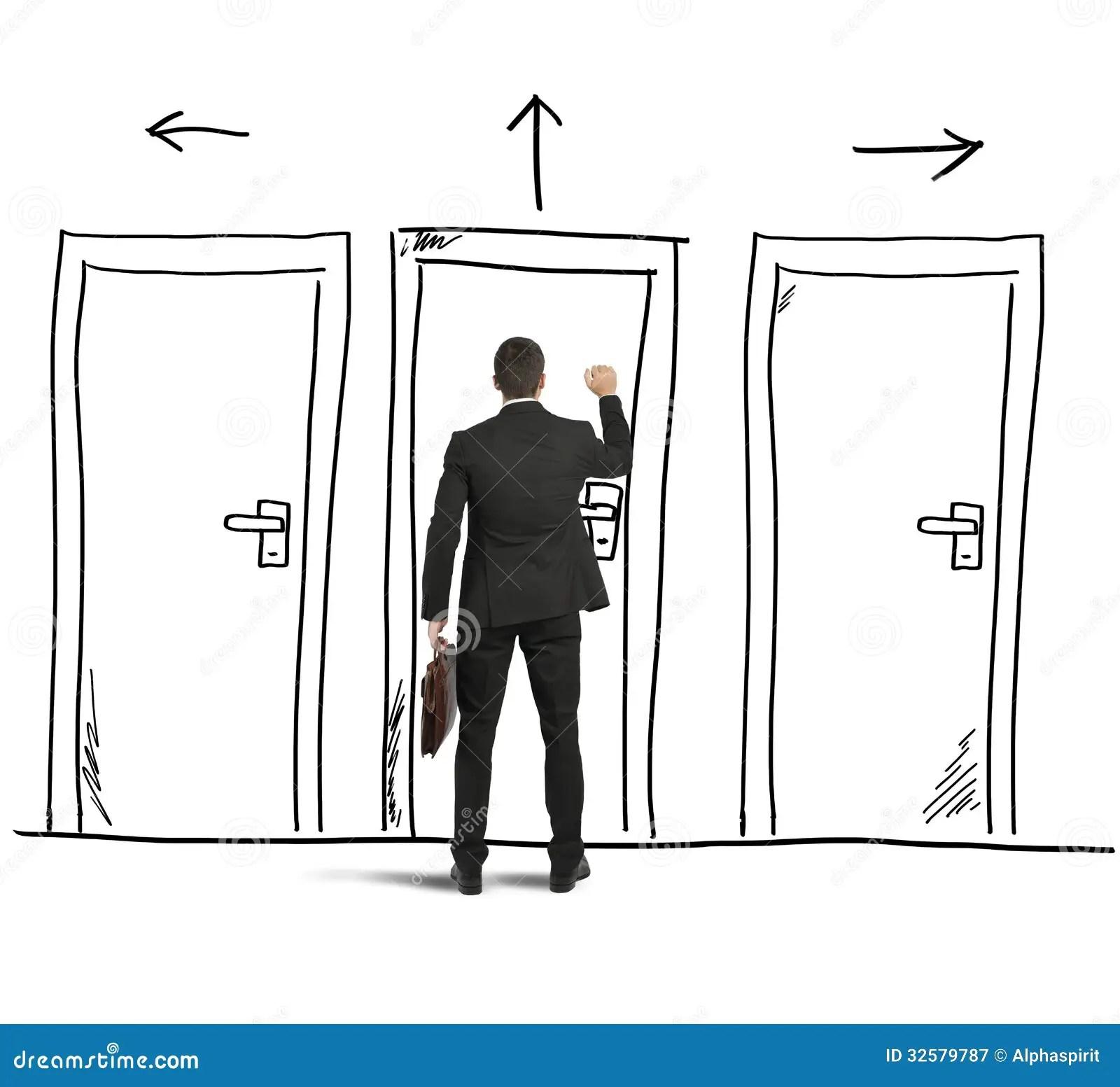 Open the door stock image. Image of corporate, option