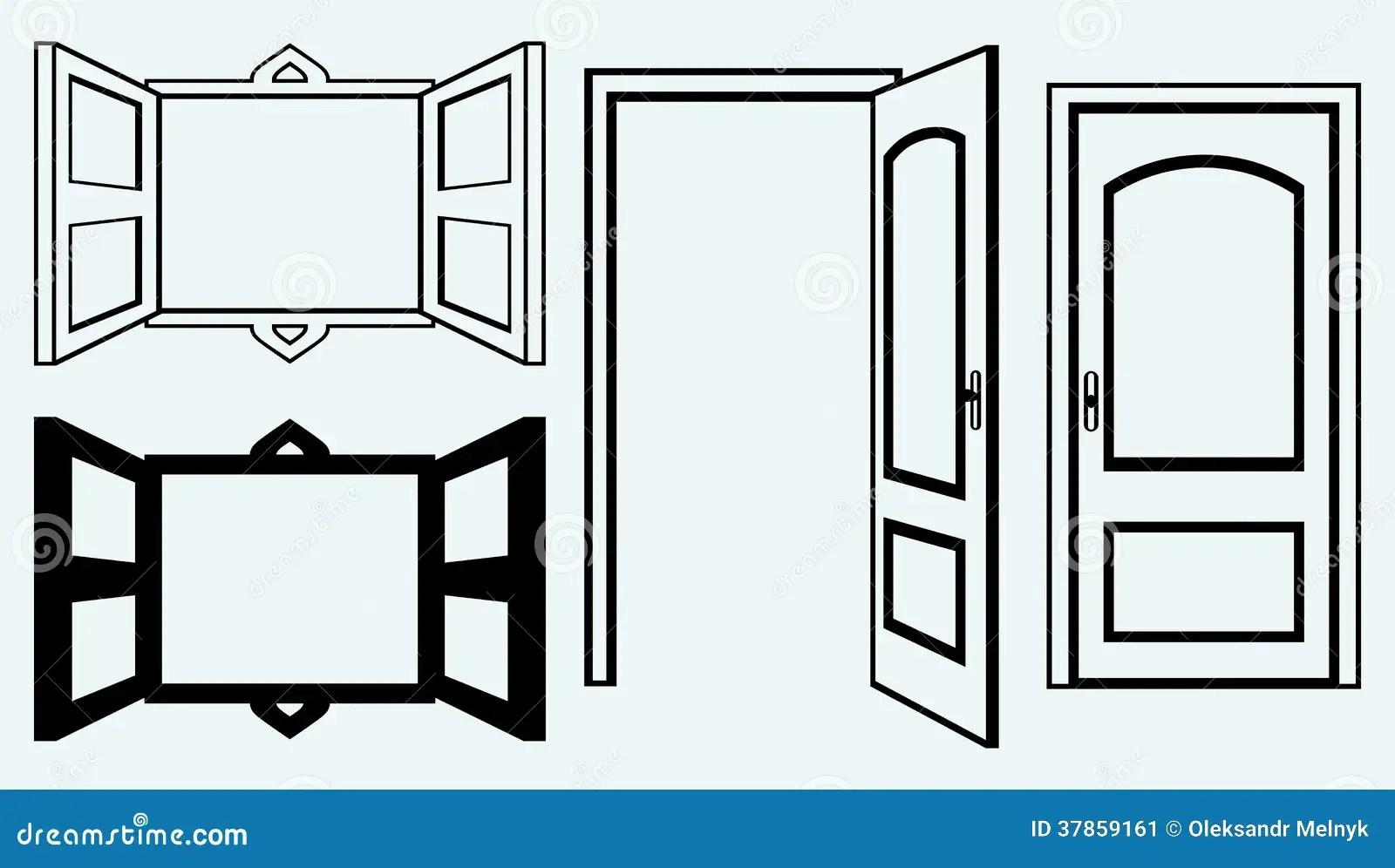 Open Door And Window Stock Vector Image Of Alone