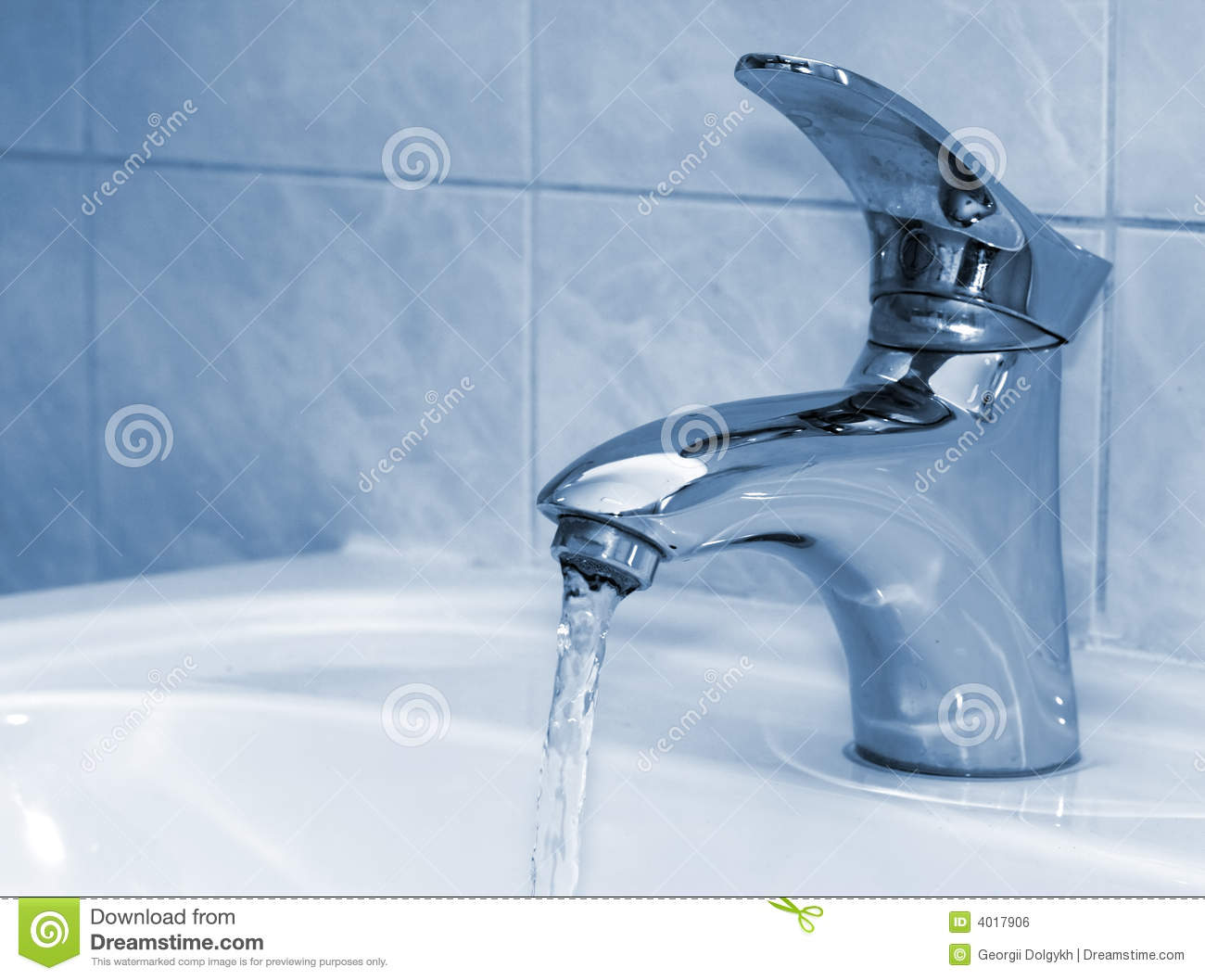 Open Water Faucet Stock Photo Image Of Clean Shiny