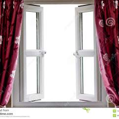 Modern Curtains For Living Room Pictures Ideas With Grey Wood Floors Open Window And A Blank View Stock Photo ...