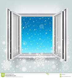 window snow open falling winter opened clipart plastic theme snowy christmas inside preview