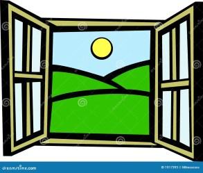 window open illustration morning vector