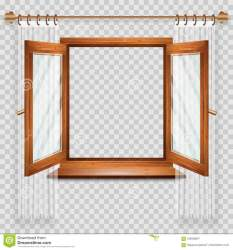window open illustration clipart vector dreamstime glass curtains element