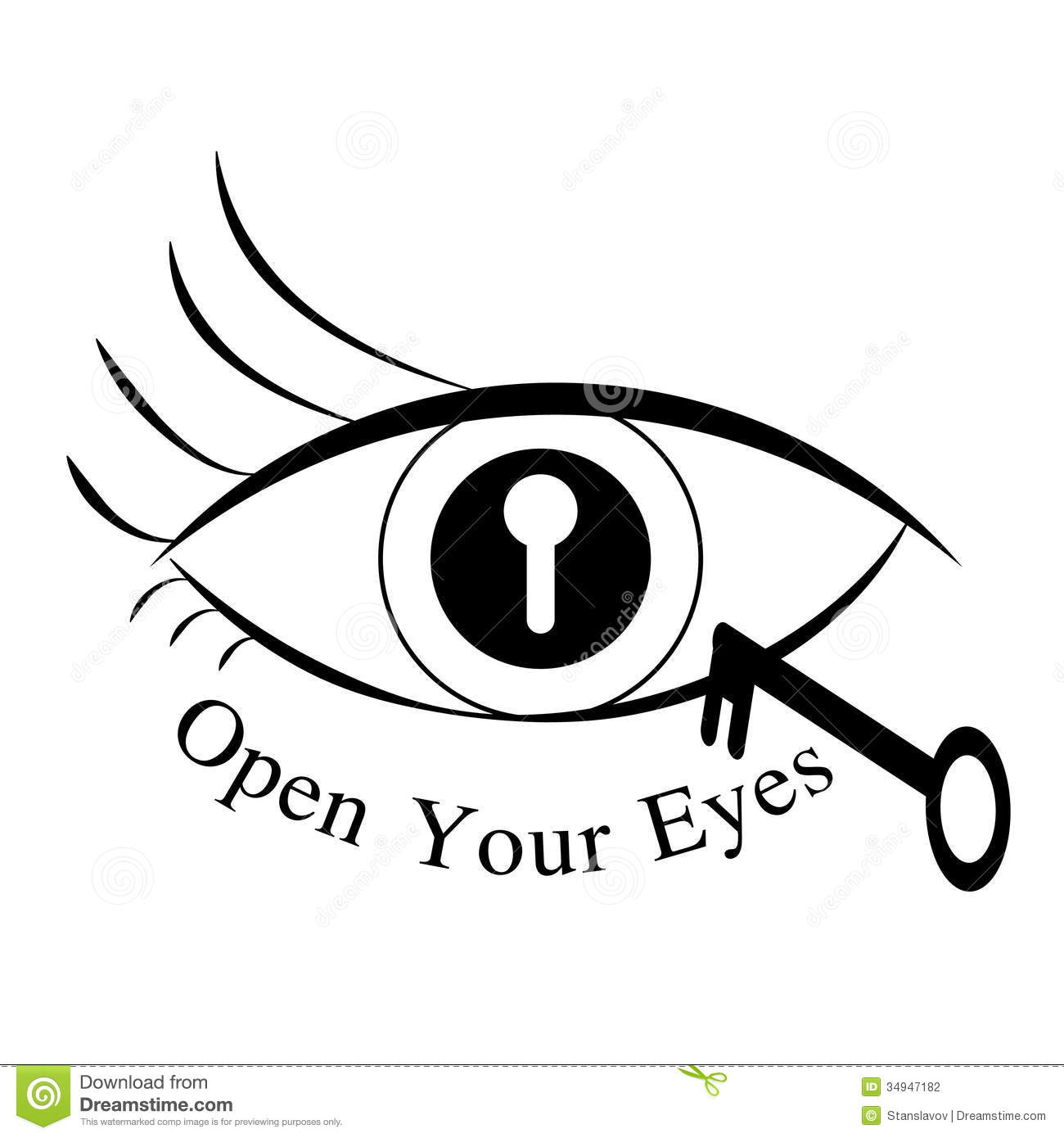 Open Your Eyes Stock Illustration Image Of Look Icon