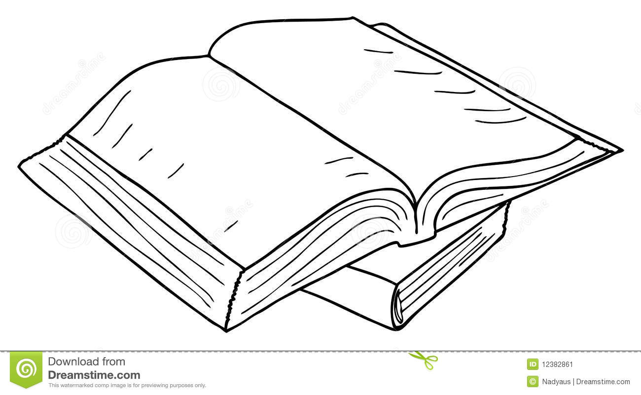 Opened book sketch, vector stock vector. Illustration of