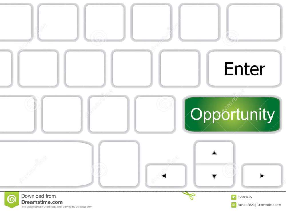 medium resolution of diagram of computer keyboard with opportunity on green key under enter with white background