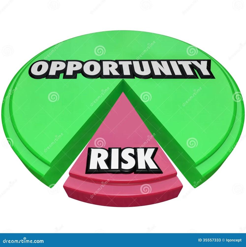 medium resolution of opportunity vs risk pie chart managing danger