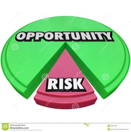 small resolution of opportunity vs risk pie chart managing danger