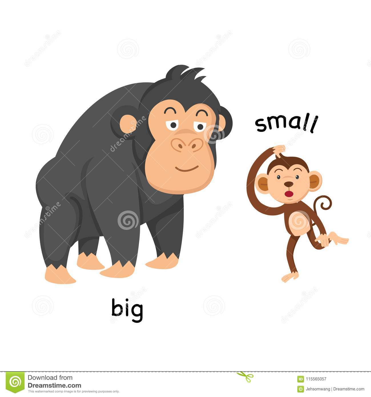 Opposite Big And Small Stock Vector Illustration Of