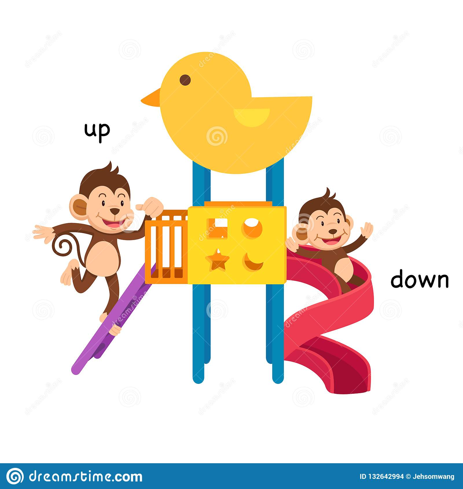 Opposite Up And Down Stock Vector Illustration Of Clip