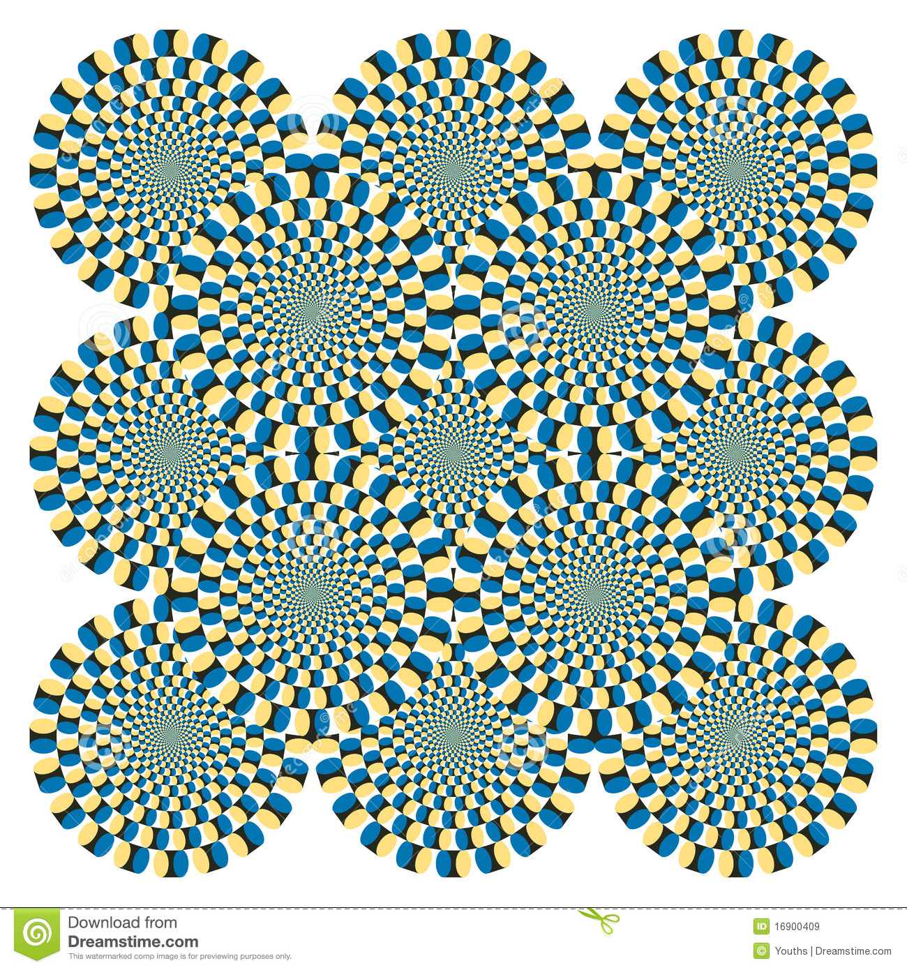 Zen 3d Wallpaper Optical Illusion Spin Cycle Vector Royalty Free Stock