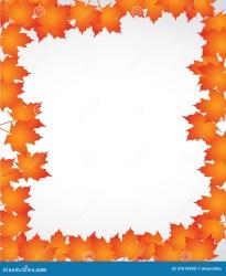 border orange leaves autumn background illustration