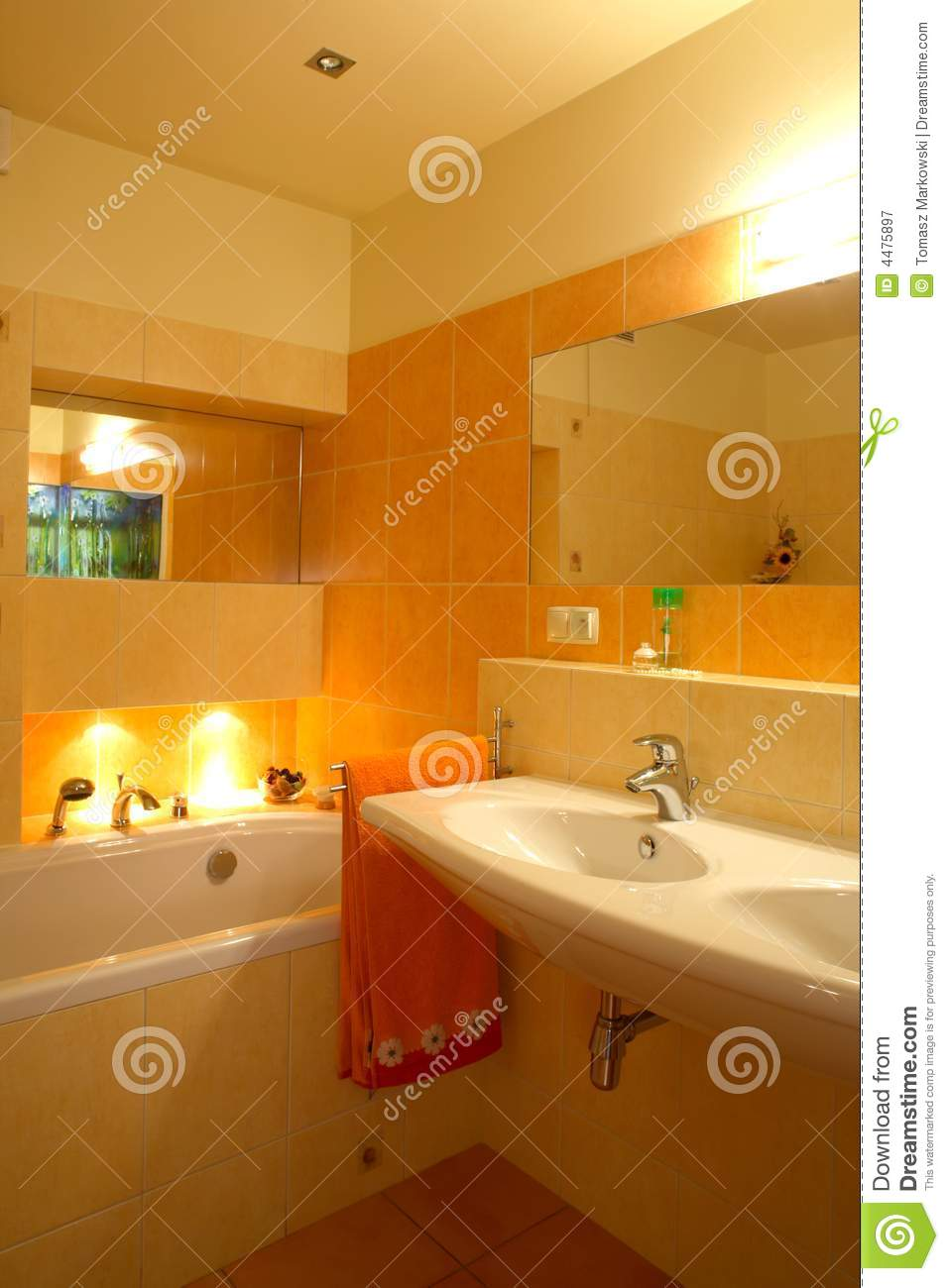 Orange Bathroom Royalty Free Stock Photography  Image