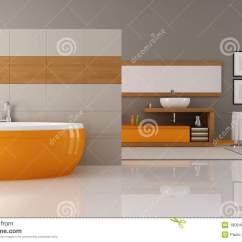 Small Kitchen Sinks Kitchens To Go Orange And Brown Bathroom Royalty Free Stock Photography ...