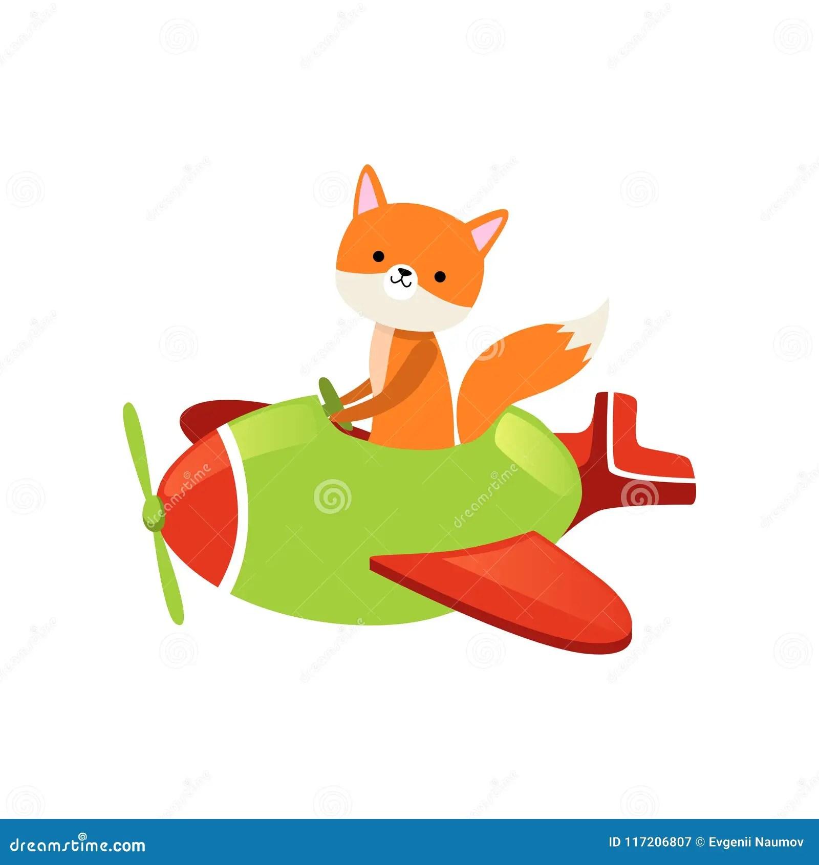 orange fox flying on