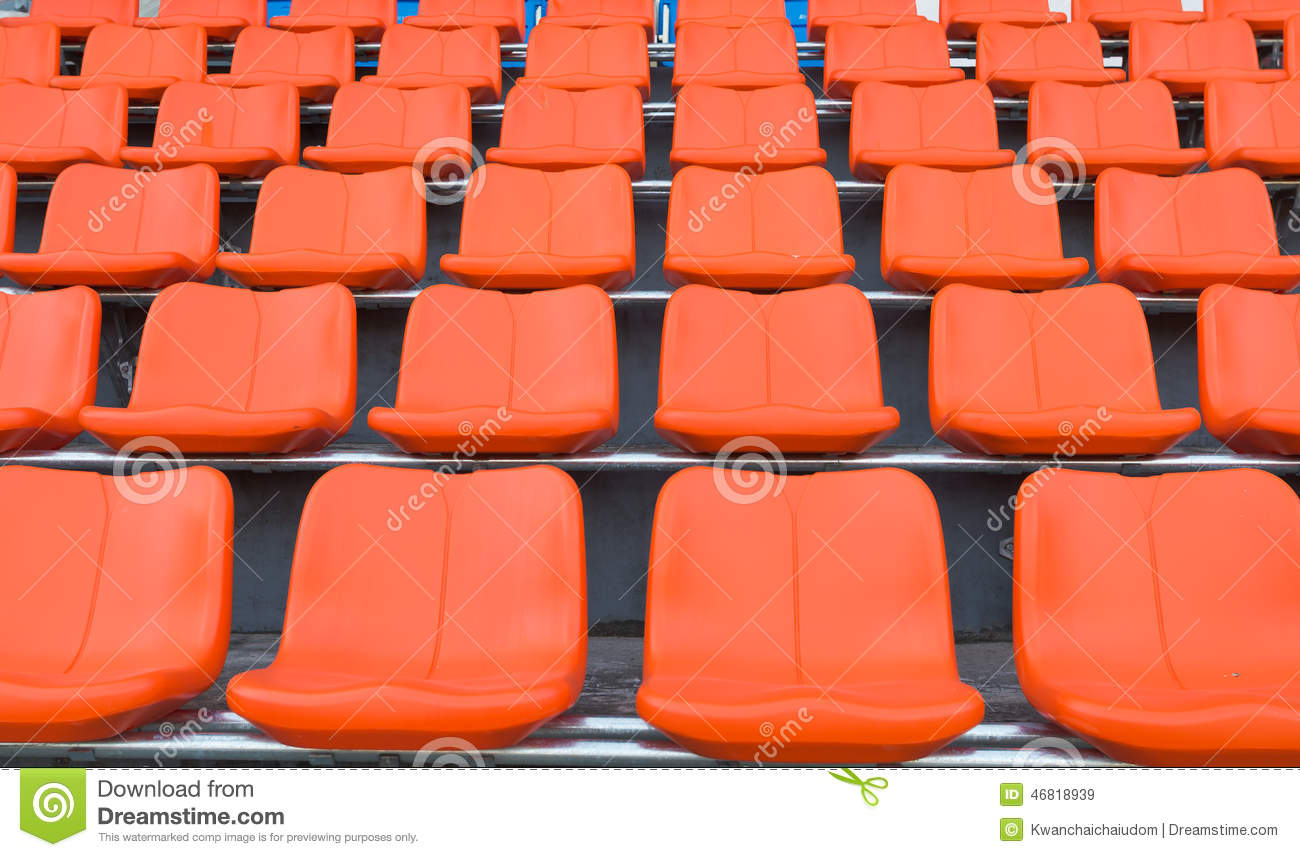 Basketball Chairs Orange Grandstand Chairs Stock Image Image Of Basketball 46818939