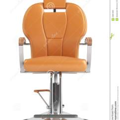 Orange Chair Salon Double Camping Chairs Hairdressing Royalty Free Stock Image
